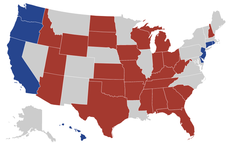 The Redward Trend of States, Visualized