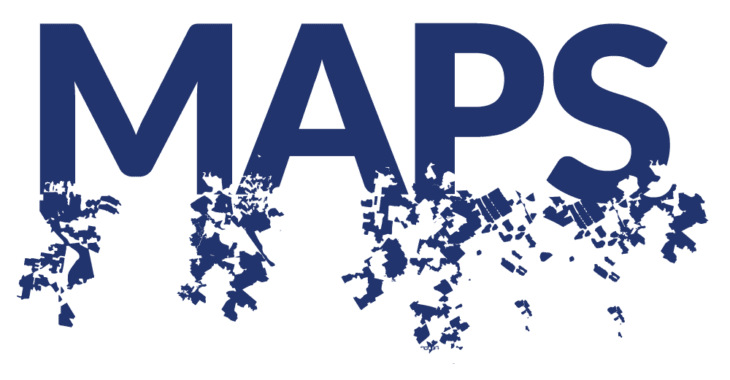 """""""Maps"""" in all capitals with the bottoms of the letter disintegrating into actual gerrymandered districts."""