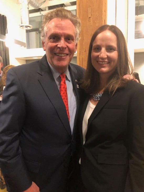 Former Virginia Governor Terry McAuliffe and Executive Director Rita Bosworth