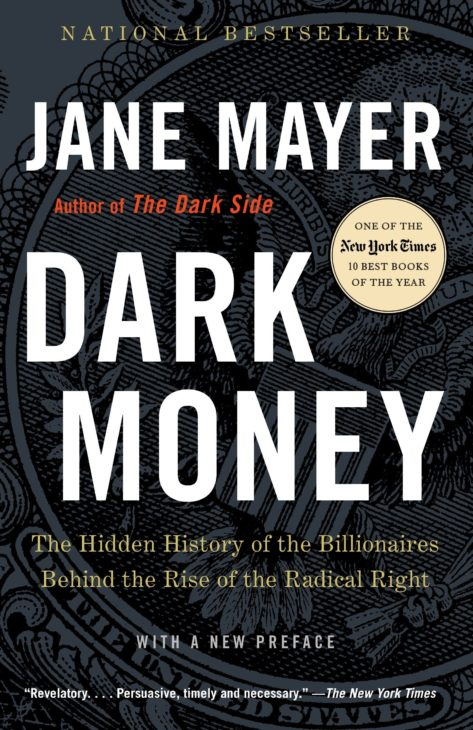 Cover of Dark Money book by Jane Mayer