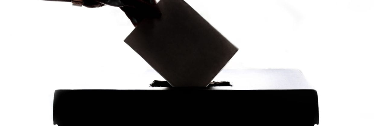 Silhouette of Ballot box