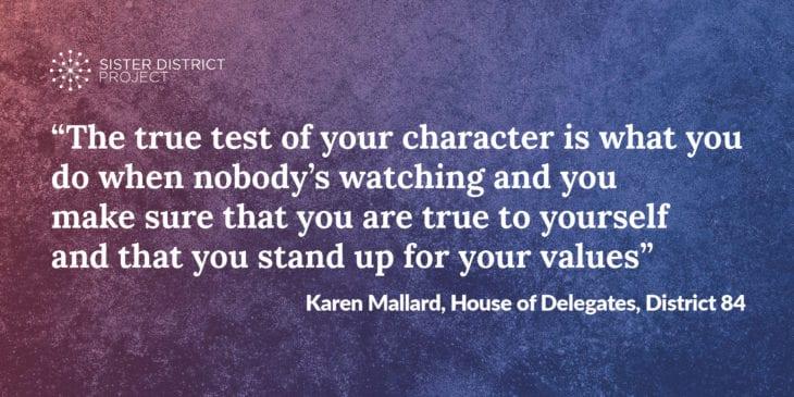Karen Mallard quote
