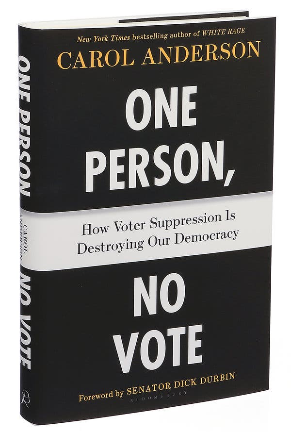 Cover of One Person, No Vote book by Carol Anderson