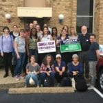 A group of volunteers from New York City canvassing for Virginia candidate Danica Roem