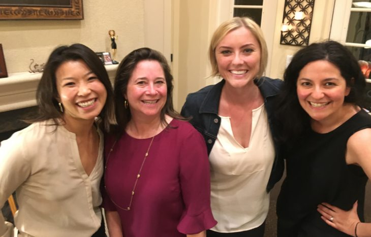 Shelly Simonds with Co-Founders Lala Wu, Lyzz Schwegler, and Gaby Goldstein in 2017