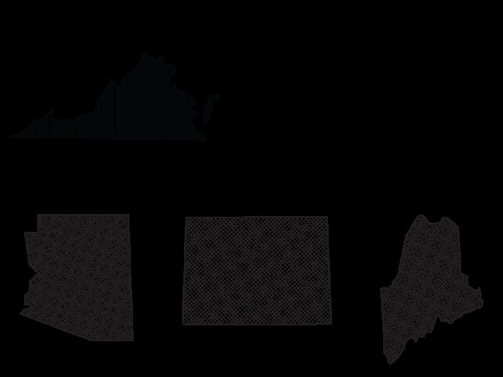 States Sister District has flipped: Virginia, Washington, Arizona, Colorado, and Maine