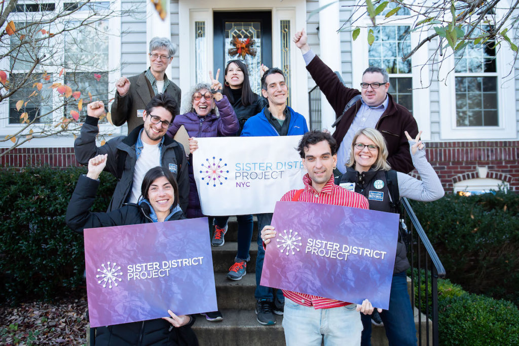 NYC Volunteers canvassing for Wendy Gooditis