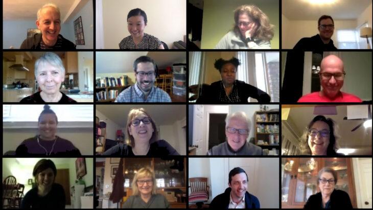 Screenshot of Zoom call with volunteer leaders