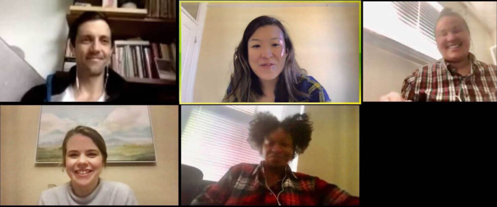 Screenshot of the Sister District Organizing Department on a video conference